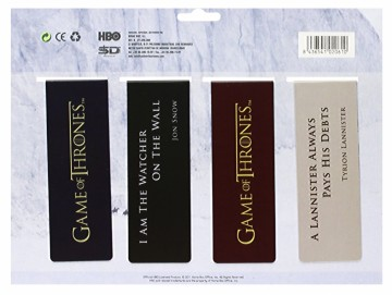 Game of Thrones boekenleggers (magnetisch) Set C