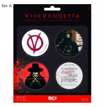 V for Vendetta buttons (set A)