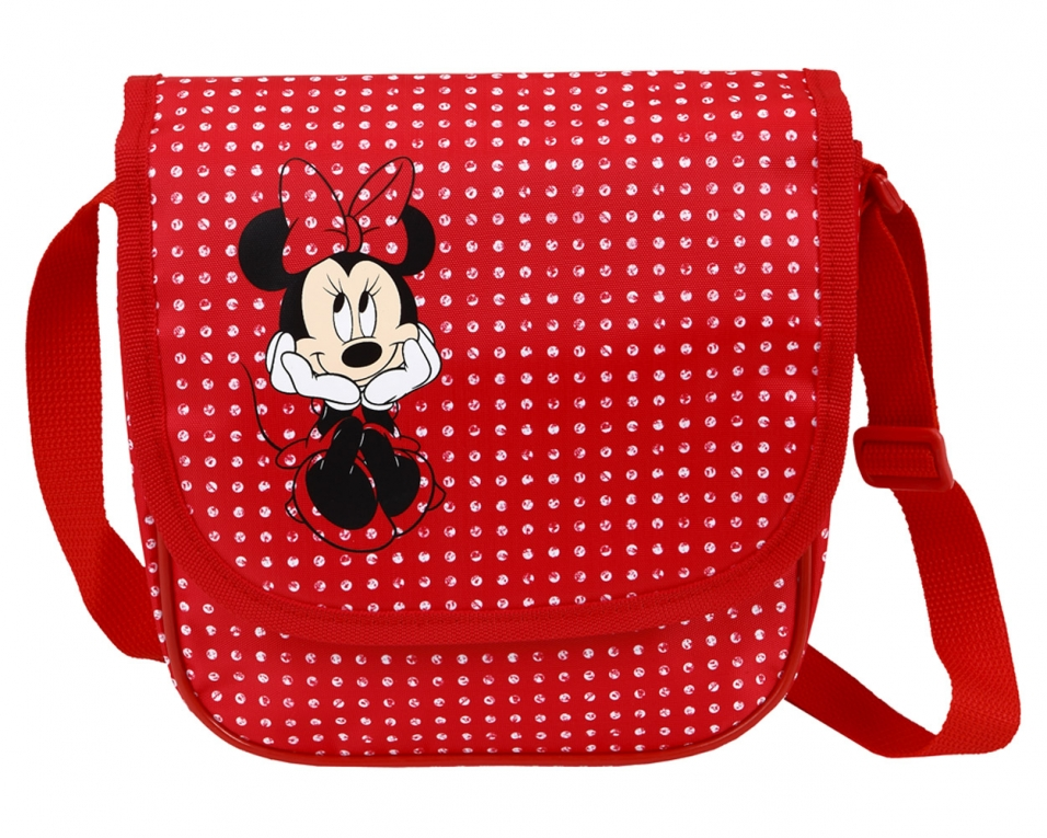 Schoudertas Kind : Minnie mouse schoudertas rood kind tassen huuphuup