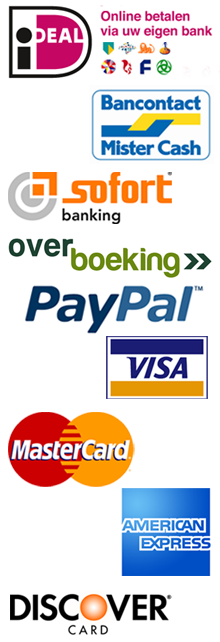 Betaalmethoden iDeal PayPal MisterCash Overboeking Creditcard