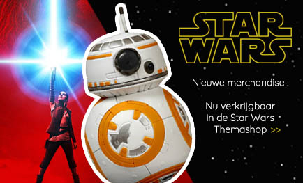 Star Wars Themashop: merchandise van de originele trilogie, The Force Awakens en The Last Jedi
